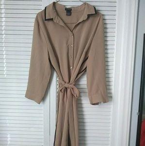 Ann Taylor shirt dress, size large